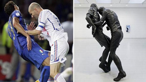 Cabezazo de Zidane a Materazzi quedó inmortalizado