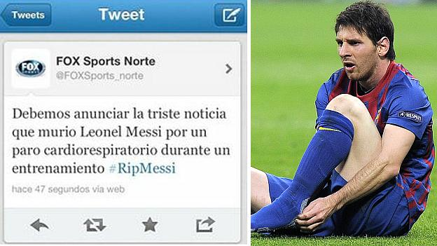 """Murio Lionel Messi"" dice Fox Sports"