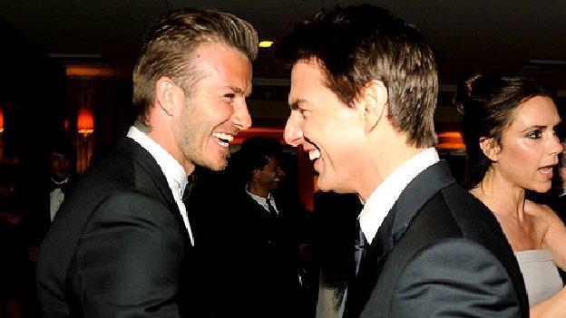 Beckam y Tom Cruise algo mas que amigos